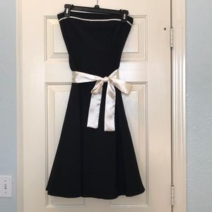 Ruby Rox Black and cream cocktail dress